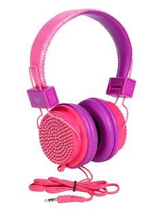 Colorblock Bling Headphones | Headphones & Speakers | Electronics | Shop Justice