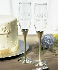 Venice Silver Wedding Toasting Glasses are detailed with a floral pattern and Swarovski crystals. Wedding toasting flutes are perfect for your wedding. Wedding Toasting Glasses, Wedding Champagne Flutes, Toasting Flutes, Flute Champagne, Champagne Glasses, Champagne Toast, Wedding Toasts, Gold Wedding, Wedding Shoes