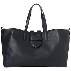 Buy Jaeger Aimee Tote Handbag, Navy Online at johnlewis.com