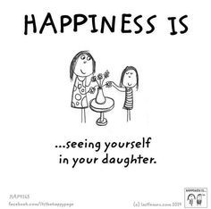 Seeing yourself in your daughter