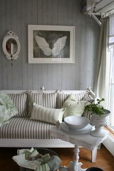 Gustavian style/Swedish Country - um..wow..love the rustic & vintage mix..definitely perfect for a cottage