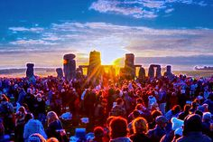 Attend the Summer Solstice Festival in Stonhenge, England