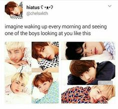 This will happen 10 years later. I will wake up next to Namjoon! *Jin's confidence*