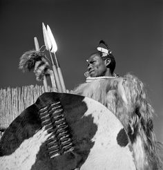 Traditional regalia of the Amangwane tribe, Swaziland 1948 Magnum Photos, Girl Dancing, African Art, Native American, Statue, Artwork, Traditional, Missing Link, Sticks
