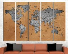 This item is unavailable Large World Map Poster, Framed World Map, World Map Canvas, World Map Wall Art, Map Art, World Map With Pins, Push Pin World Map, Extra Large Wall Art, Custom Map