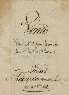 French Document Cover. 1842.