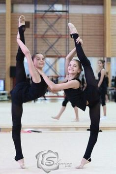 Dina & Arina AVERINA TWINS (Russia) ~ Training 2015 Photographer Silyanop.