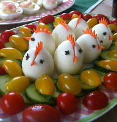 12 Easy And Adorable Easter-Themed Snack Ideas Osterfrühstück ♥ stylefruits Inspiration ♥ Easter Dinner, Easter Brunch, Easter Table, Easter Recipes, Holiday Recipes, Recipes Dinner, Holiday Ideas, Cute Food, Good Food