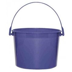 Plastic Buckets for the easter egg hunt? Decorated up all cute with something yellow- monogram or rabbit or something?