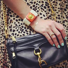 Classic: MiniMac + Leopard Print (i have this cross bracelet and I love it!)