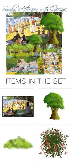 """""""Sunday Afternoon with George"""" by rosalindmarshall ❤ liked on Polyvore featuring art"""