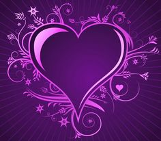 Illustration of Purple love hearts and bow for valentines day or any romantic event. Purple Love, All Things Purple, Purple Rain, Shades Of Purple, Purple Hearts, Purple Colors, Purple Stuff, Pink Purple, Love Heart Images