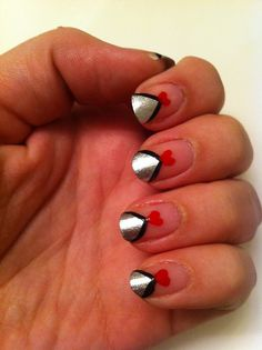 Valentine's Day nails by mbonillanails, via Flickr