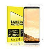 #9: Galaxy S8 Screen Protector [2-Pack] iTURBOS Full Screen Coverage 3D PET HD Screen Protector Film for Samsung Galaxy S8