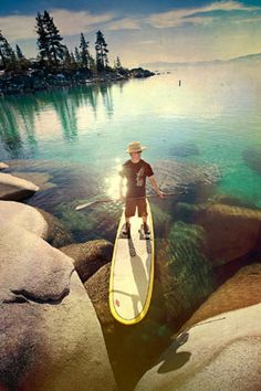 Lake Tahoe stand up paddle boarding is one of the best ways to cruise the shoreline.
