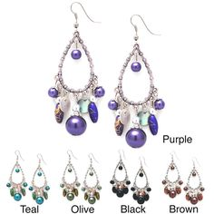 Glass Pearl Chandelier Earrings - Overstock™ Shopping - The Best Prices on Earrings