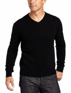 Williams's V-neck sweater proves classically cool with two-ply cashmere.