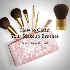 How to Clean your Makeup Brushes http://www.momgenerations.com/2014/09/beauty-alert-how-to-clean-your-makeup-brushes/ #beauty