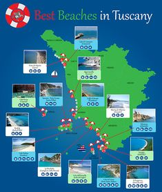 Top 35 beaches - The best Tuscany beaches divided per type, reachability, key characteristics, suggested by CharmingTuscany.com.
