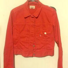 Pink Denim Jacket  Orangey Red denim jacket! Levi's Jackets & Coats Jean Jackets