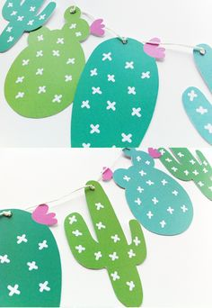DIY Cactus Garland FREE printable for a great Summer or Mexican Party. Go create. Kids Crafts, Diy And Crafts, Summer Crafts, Taco Crafts, Craft Kids, Diy Paper, Paper Crafting, Diy Girlande, Papier Diy