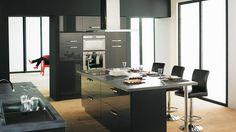 New kitchen island modern black 17 Ideas Modern Kitchen Island, Modern Kitchen Design, New Kitchen, Kitchen Decor, Kitchen Designs, Kitchen Islands, Builder Grade Kitchen, Modern Floor Plans, Kitchen Models