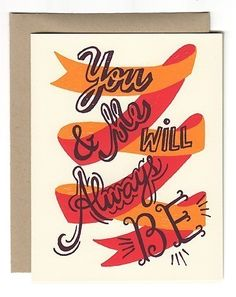 You & Me Will Always Be - Card #card #handlettering