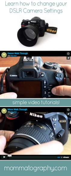 Camera Settings 101 — Learn Where Your Settings are and How to Change Them. Nikon & Canon DSLR Video Tutorials - www.mommatography.com