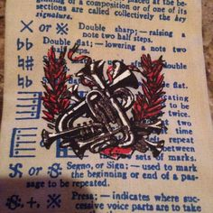 Vintage Rooster Tie Necktie Square End Classical Music Musician Violin Trumpet #Rooster #Tie