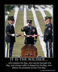 A military funeral. The American Military never forgets and always honors one of their own. A true band of brothers and sisters unlike any other.