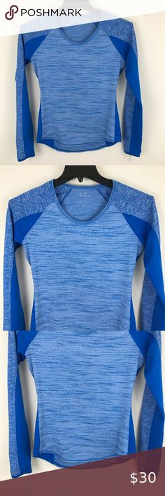 Athleta Running Wild Long Sleeve Workout Top Blue Thumb holes, scoop neck, see final photo for fabric content, excellent condition, smoke free home. Length collar seam to hem Pit to pit across chest Athleta Tops Tees - Short Sleeve Plus Fashion, Womens Fashion, Fashion Tips, Fashion Design, Fashion Trends, Workout Tops, Long Sleeve Tops, Scoop Neck, Smoke Free