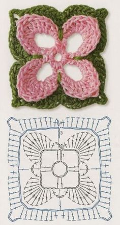Delicadezas en crochet Gabriela: Patrones gratis ; Cuadrados de la abuela ganchillo                                                                                                                                                                                 Más
