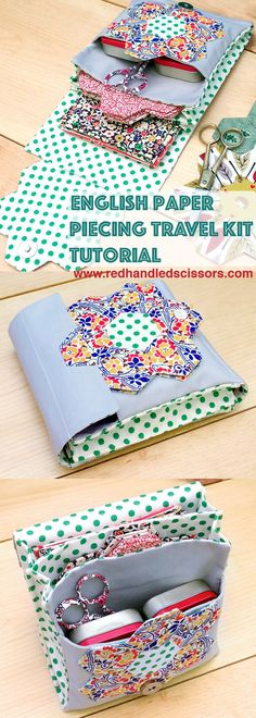 Tutorial: English Paper Piecing Travel Kit, Hexies Part 3: Hexie obsessed? Get your quilting fix on the go with part 3 of my English Paper Piecing tutorial series: the English paper piecing travel kit! #sewing #quilting #hexagons #gifts