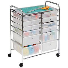 Honey Can Do 12 Drawer Mobile Organizer Cart  this would be great for medical supplies in a chronicly ill patients room