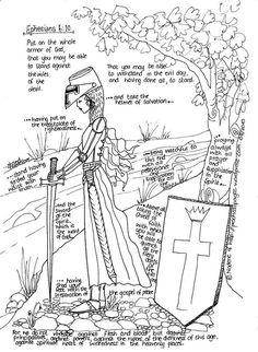 Toda la armadura de Dios - sólo que ésta es una versión CHICA! Así que la impresión de esta para las chicas de esta casa. :)