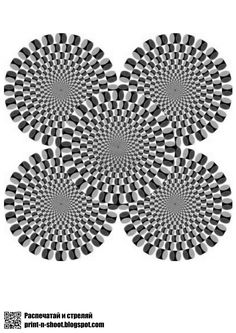 Набор мишеней с оптическими иллюзиями. Targets with an optical illusions.
