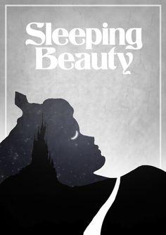 Minimalist poster for disney movies