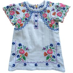 Nonna Bambini - Stella McCartney Kids Girl's Flower Embroidered Dress, $134.00 (http://www.nonnabambini.com/stella-mccartney-kids-girls-flower-embroidered-dress/)