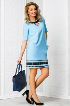 rochie scurta bleu casual cu broderii negre la tiv Cold Shoulder Dress, Casual, Dresses, Fashion, Vestidos, Moda, Fashion Styles, Dress, Fashion Illustrations