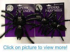 Set of 3 Super Creepy Plastic Spiders - Halloween Decorations #Set #Super #Creepy #Plastic #Spiders #Halloween #Decorations