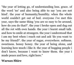The year of letting go | Warsan Shire