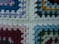 Single-crochet (sc) method for joining granny squares