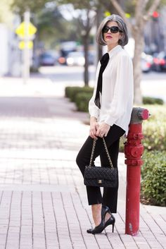 How to Style Black Pants(Effortless French Style)