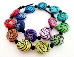 Necklace by Daniela (dr. fimo), polymer clay.
