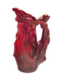 Zsolnay - Kancsó, táncoló nőalakokkal, Zsolnay, 1903 Fazonszám: 7147, Magasság: 35,5 cm Jelzés: domború körpecsét Fazonterv: Apáti-Abt Sándor és Mack Lajos 2015/Le 1,9m