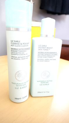 Liz Earle Cleanse and Polish Hot Cloth Cleanser & Instant Boost Skin Tonic  Review on the blog! www.sookiespartan.com