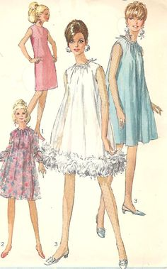 1960s DRESS Pattern VINTAGE 60s Sewing by CottageontheBluff, $10.00
