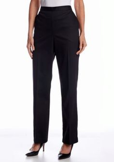 Alfred Dunner  Petite Play On Color Proportioned Pull On Pant
