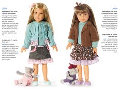 Two new dolls from the Kidz 'n' Cats 2014 collection. Available from Petalina from March/April 2014.