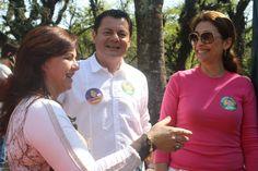 Candidata Lourdes Dallacort prestigia Rogério e Solange Amaral no Brique da Redenção em 02.09.2012  Foto: Jornalista Fátima Oliveira